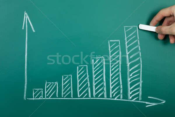 Mano dibujo crecimiento tabla verde pizarra Foto stock © AndreyPopov