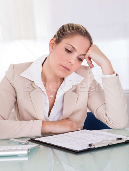 Stressful business woman Stock photo © AndreyPopov