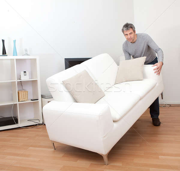 Supérieurs homme déplacement canapé maison affaires Photo stock © AndreyPopov