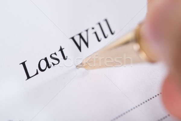 Writing Last Will and Testament Stock photo © AndreyPopov