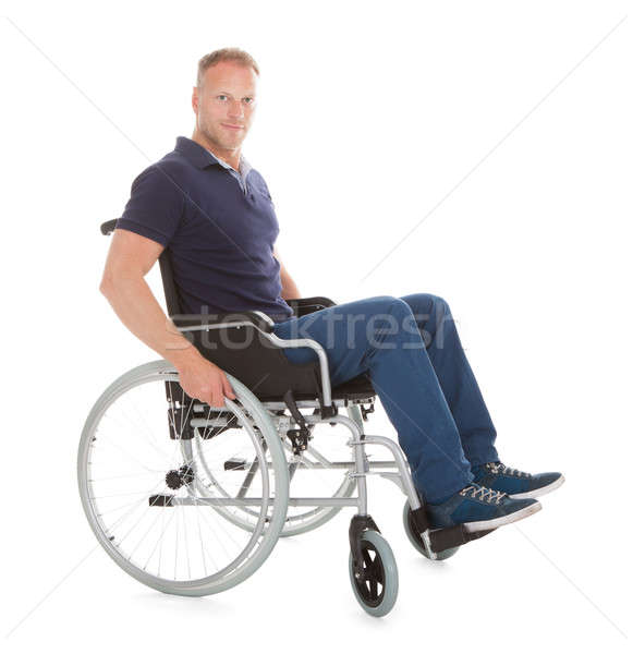 Portrait Of Disabled Man On Wheelchair Stock photo © AndreyPopov