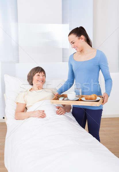 介護士 朝食 シニア 女性 女性 ストックフォト © AndreyPopov