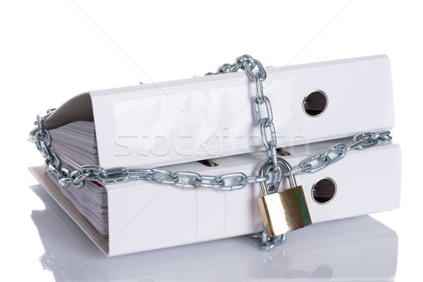 Restricted info locked with chain Stock photo © AndreyPopov