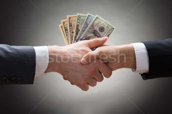 Businesspeople Hands With Money Stock photo © AndreyPopov