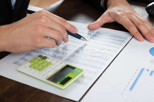 Businessperson Working With Accounting Document Stock photo © AndreyPopov