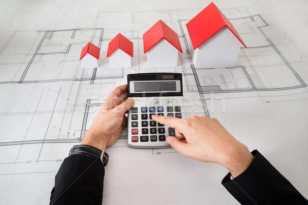 архитектора различный размер дома моделях план Сток-фото © AndreyPopov