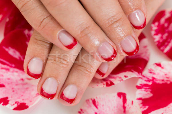 Female Hands With Manicured Nail Varnish Stock photo © AndreyPopov