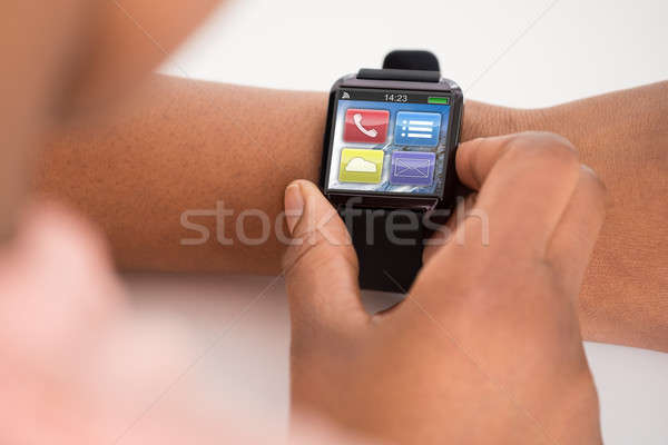 Person's Hand Wearing Smartwatch Stock photo © AndreyPopov