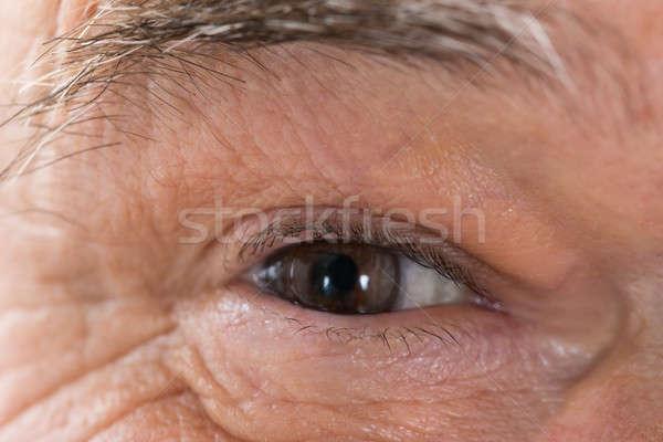Senior occhi foto capelli pelle Foto d'archivio © AndreyPopov