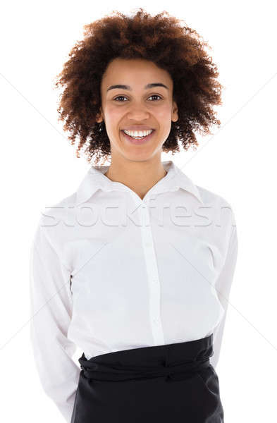Portrait Of A Smiling Hostess Stock photo © AndreyPopov