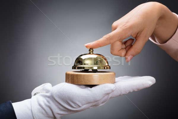 Customer Ringing Service Bell Held By Customer Stock photo © AndreyPopov