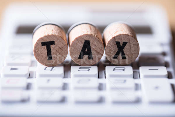 Close-up Of Tax Text On Cork Stock photo © AndreyPopov