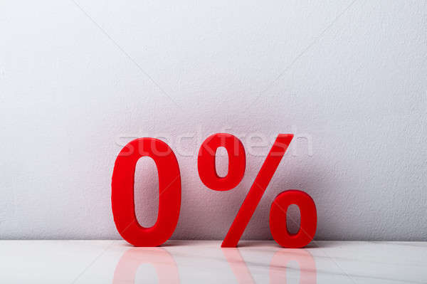 Stock photo: Plastic Zero Percent Symbol