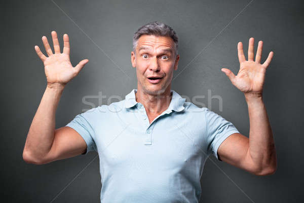 Portrait Of A Terrified Man Stock photo © AndreyPopov