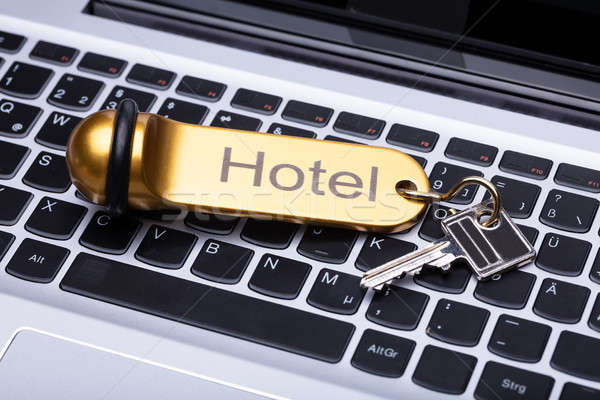 Elevated View Of Hotel Key Stock photo © AndreyPopov