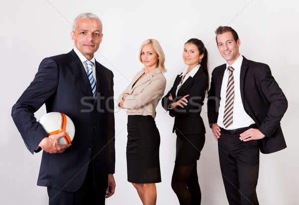 Sterke concurrerend business team professionele vier mensen business Stockfoto © AndreyPopov