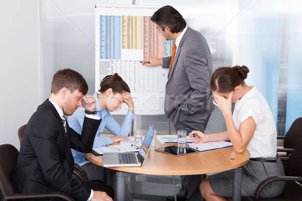 скучно презентация служба бизнеса человека Сток-фото © AndreyPopov