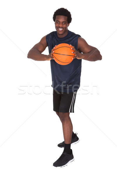 Portrait Of African Basketball Player Stock photo © AndreyPopov
