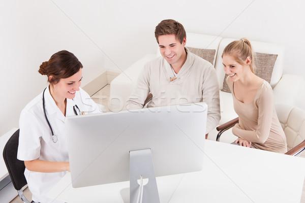 врач медицинской счастливым больницу Сток-фото © AndreyPopov