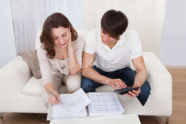 Orçamento retrato jovem feliz casal Foto stock © AndreyPopov