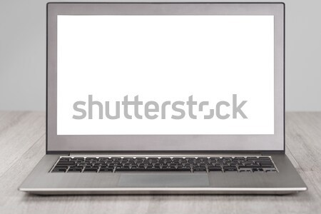 Laptop With Blank White Screen Stock photo © AndreyPopov