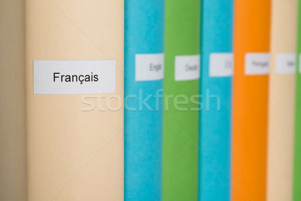 French Language Book Stock photo © AndreyPopov