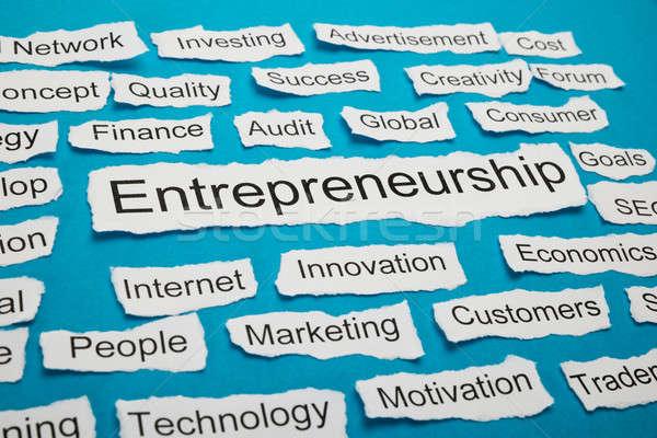 Word Entrepreneurship On Piece Of Torn Paper Stock photo © AndreyPopov