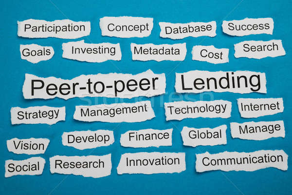 Peer-to-peer And Lending Text On Piece Of Torn Paper Stock photo © AndreyPopov