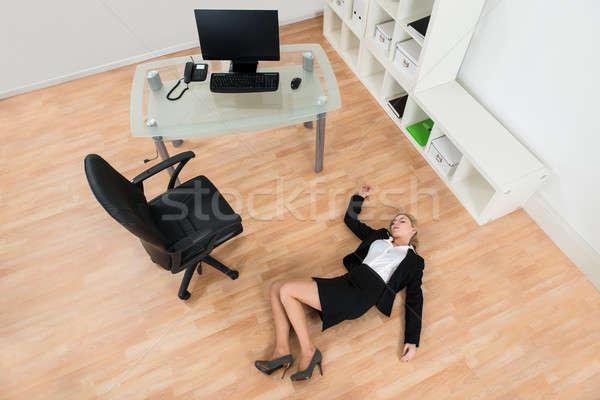 üzletasszony iroda magasról fotózva kilátás fiatal padló Stock fotó © AndreyPopov
