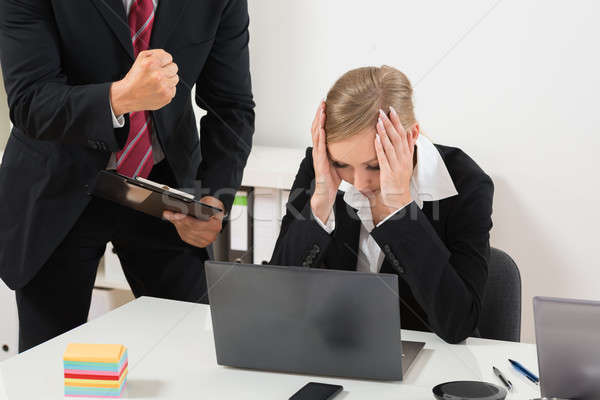 Boss Blaming An Employee For Bad Results Stock photo © AndreyPopov