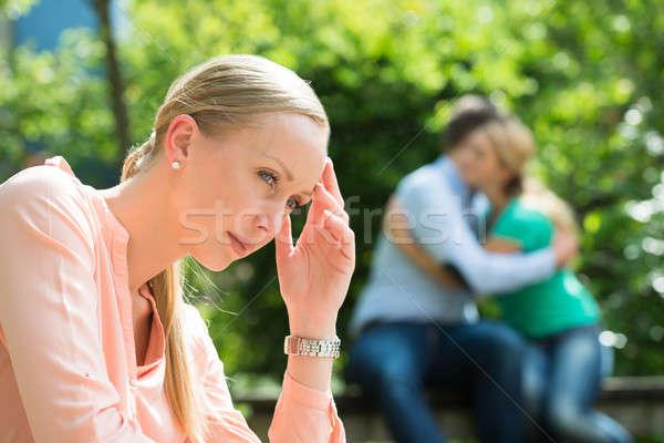 Depresji młoda kobieta para kobieta Zdjęcia stock © AndreyPopov
