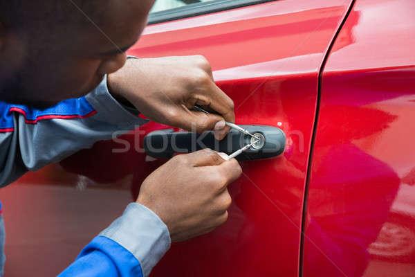 Сток-фото: механиком · открытых · автомобилей · двери · молодые