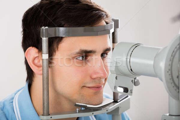 Сток-фото: человека · зрение · клинике · молодым · человеком · лице