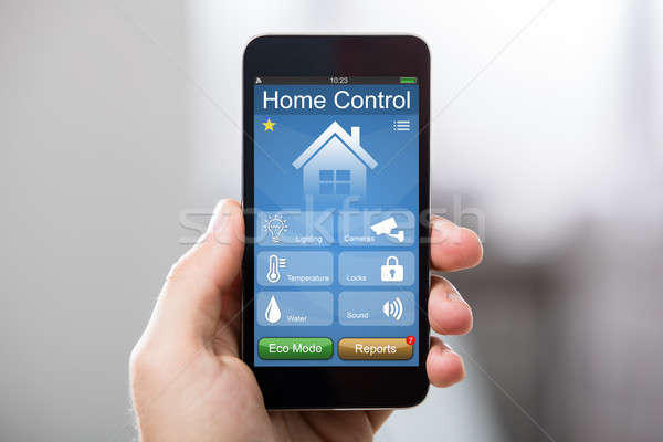 Mobile Phone With Home Control System On A Screen Stock photo © AndreyPopov