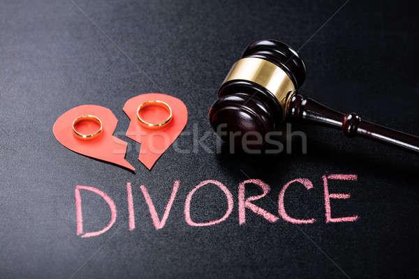 развод доске кольца красный Сток-фото © AndreyPopov