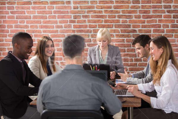 Reunión diverso grupo lugar de trabajo oficina Foto stock © AndreyPopov