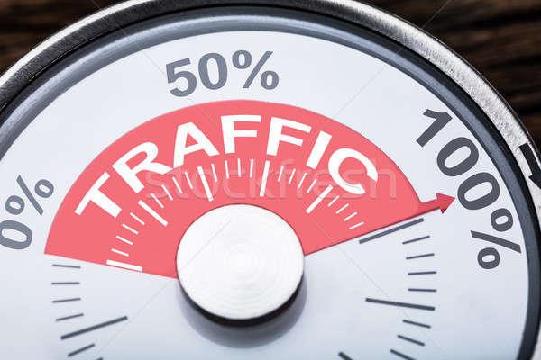 Forgalom szöveg kaliber közelkép számok százalék Stock fotó © AndreyPopov
