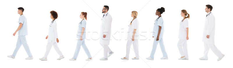 Group Of Doctors In A Row Stock photo © AndreyPopov