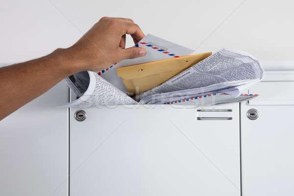Zdjęcia stock: Osoby · litery · poczty