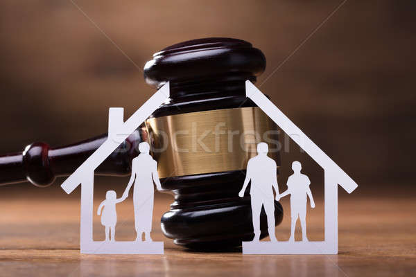 Gavel And Paper Family Representing Divorce Stock photo © AndreyPopov