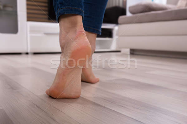 Close-up Of An Foot On Heated Floor Stock photo © AndreyPopov