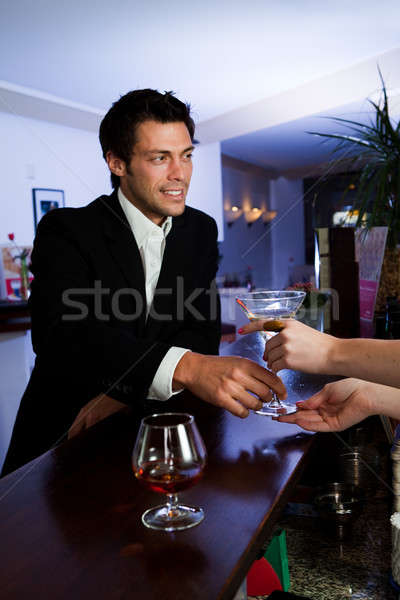 Man ordering martini Stock photo © AndreyPopov