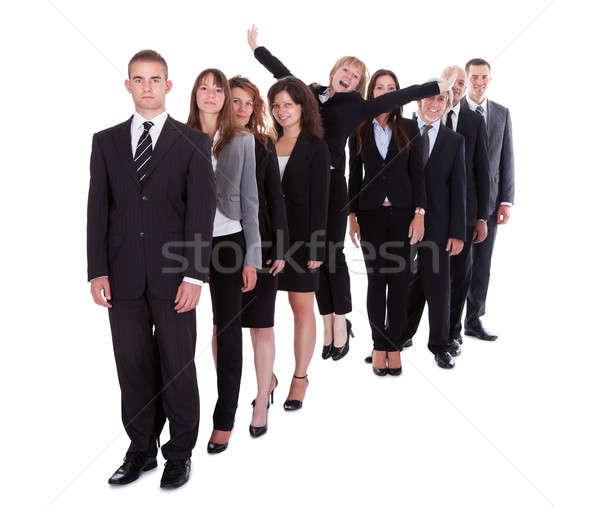 üzletasszony áll ki tömeg kollégák egyéniség Stock fotó © AndreyPopov