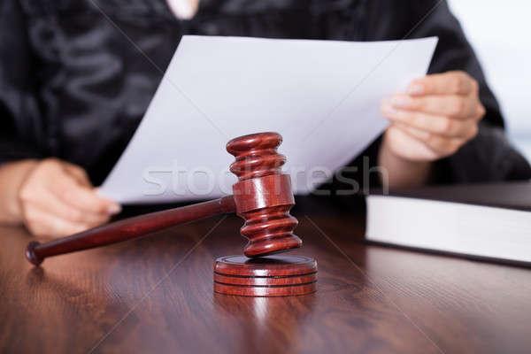 женщины судья чтение вердикт рук Сток-фото © AndreyPopov