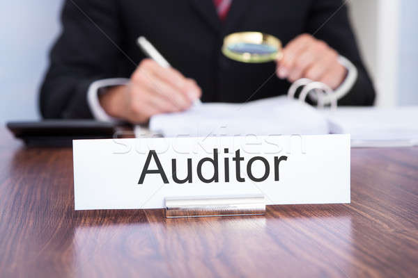 Auditor Looking At Document Stock photo © AndreyPopov
