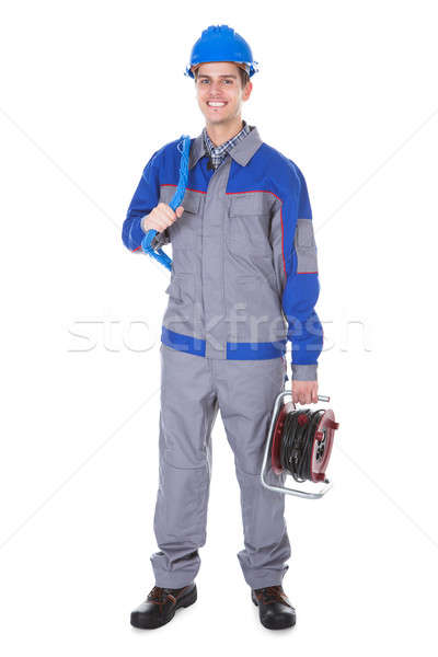 Electrician Holding Working Instrument Stock photo © AndreyPopov