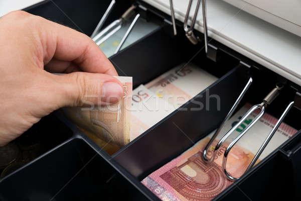 Persoon handen bankbiljet kassa Stockfoto © AndreyPopov