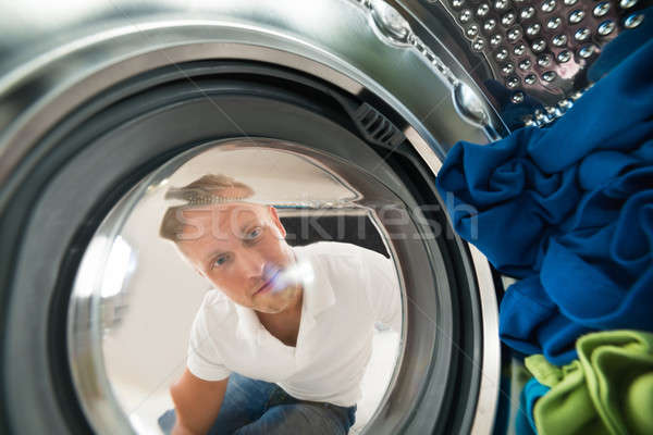 Portrait Of Man View From Inside The Washing Machine Stock photo © AndreyPopov