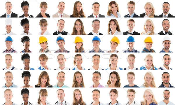 Collage Of Multi Ethnic People With Various Profession Stock photo © AndreyPopov