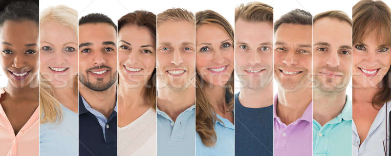 Set Of Smiling People Stock photo © AndreyPopov